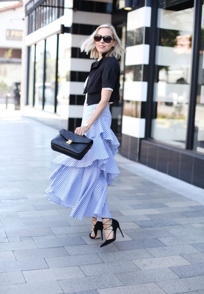 banana republic stripe skirt