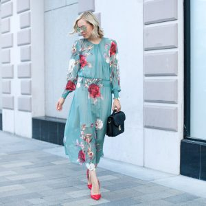 Sage Floral Print Dress   Zaful