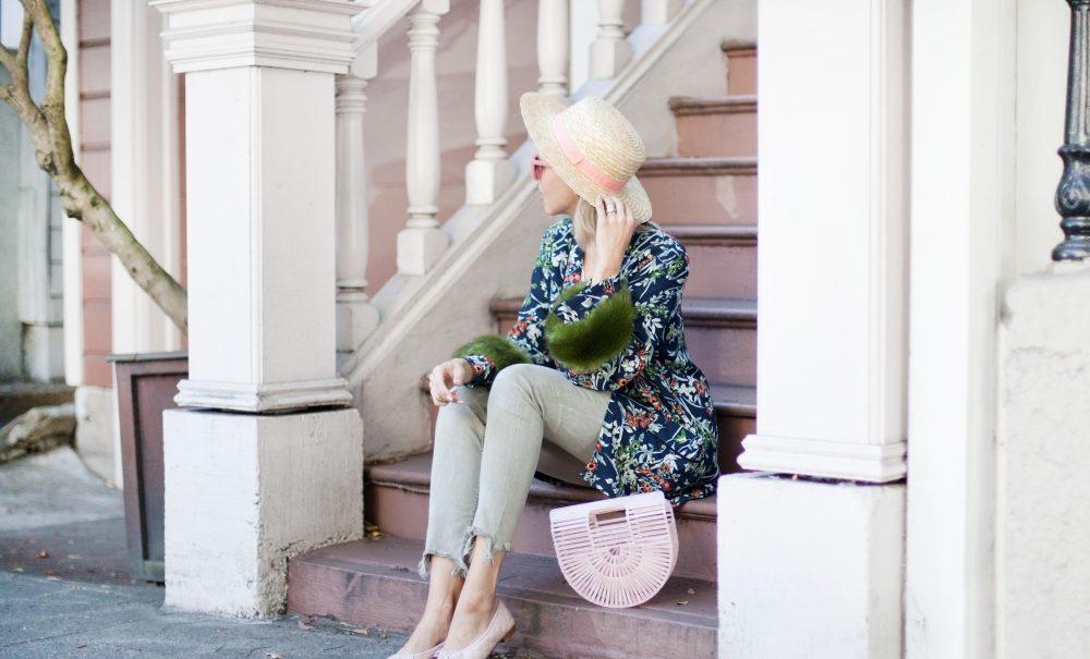 Floral Faux Fur Kimono | Zara