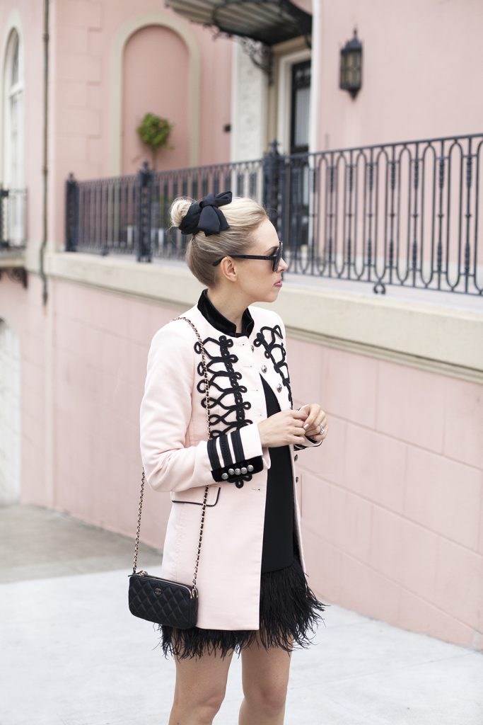 blush military jacket zara