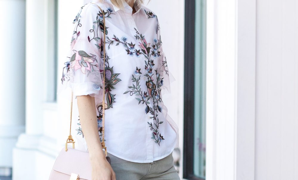 Embroidered Zara Top and Fall Layers