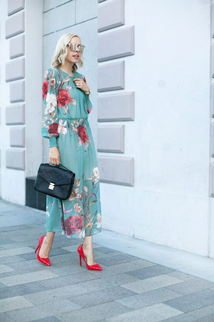 sage floral dress zaful