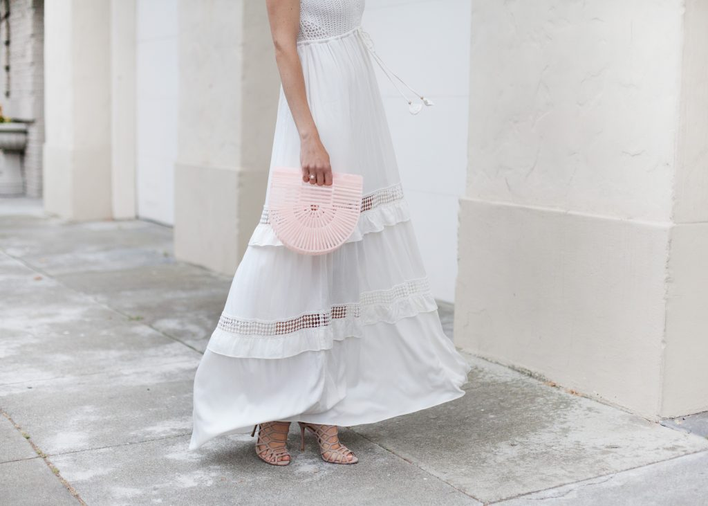 endless summer white crochet maxi dress Hale Bob
