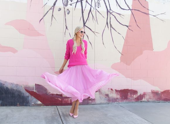 Colorful in San Diego | Pleated Skirt Trend