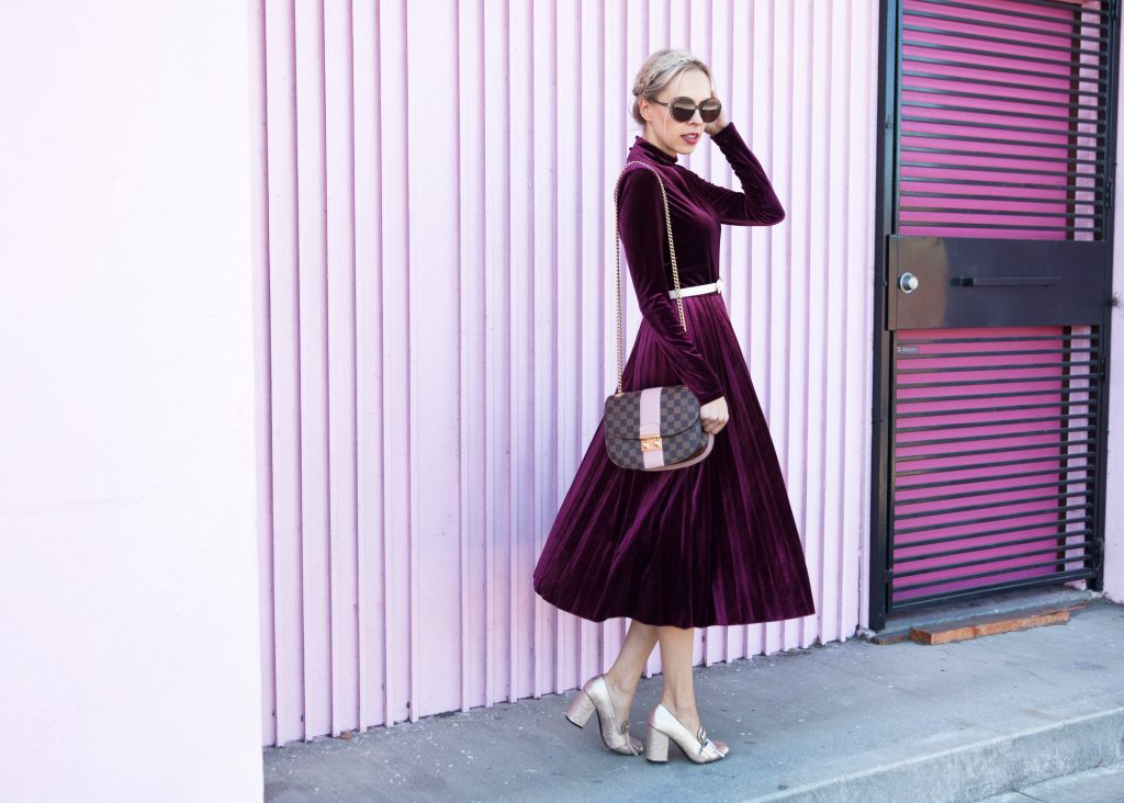 Maggy London wren skirt velvet dress