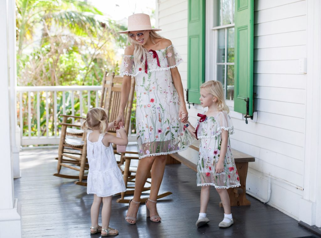 bahamas lola & the boys embroidered dress