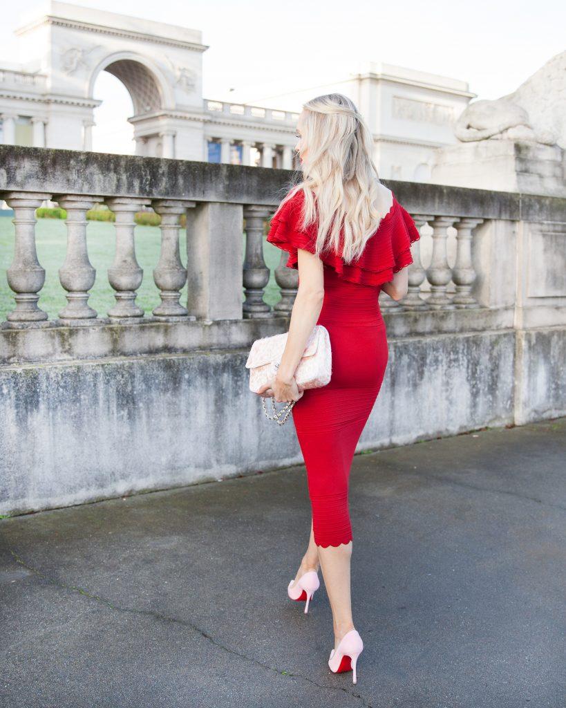 Eliza J body con dress red_Valentine's Day style