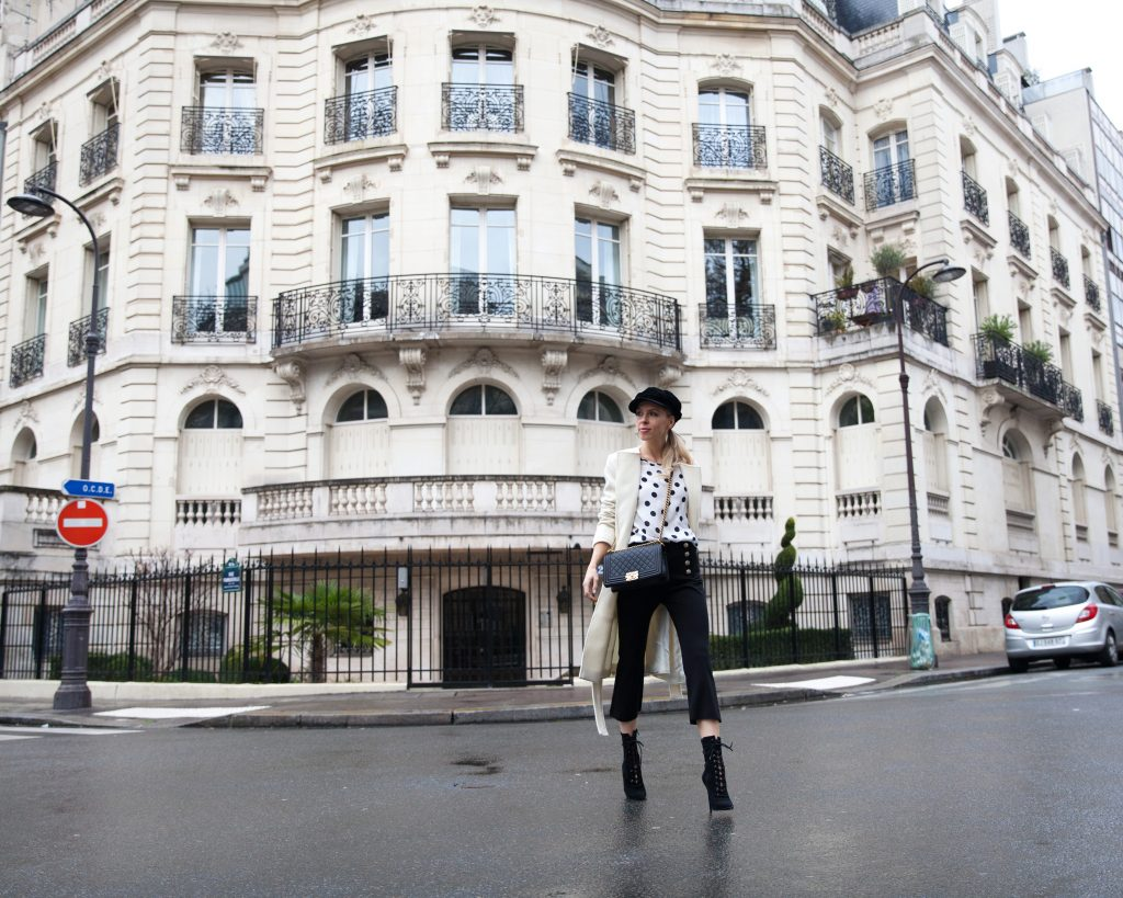 three dots look styled in Paris