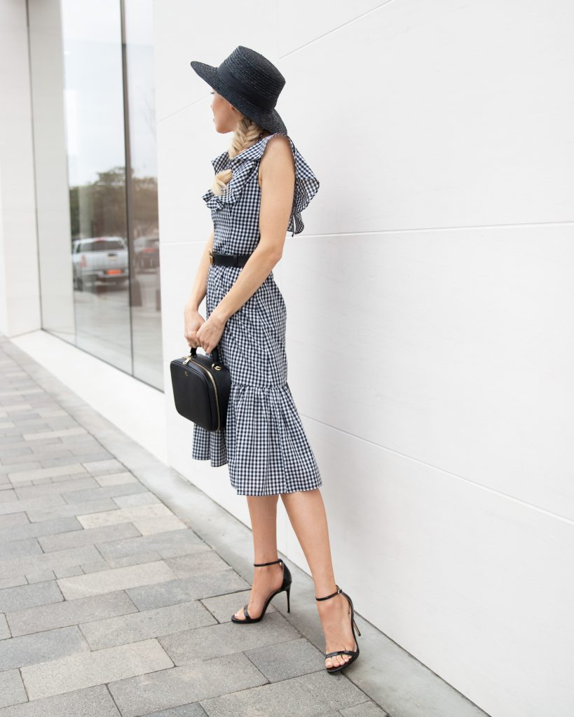 wayf gingham dress