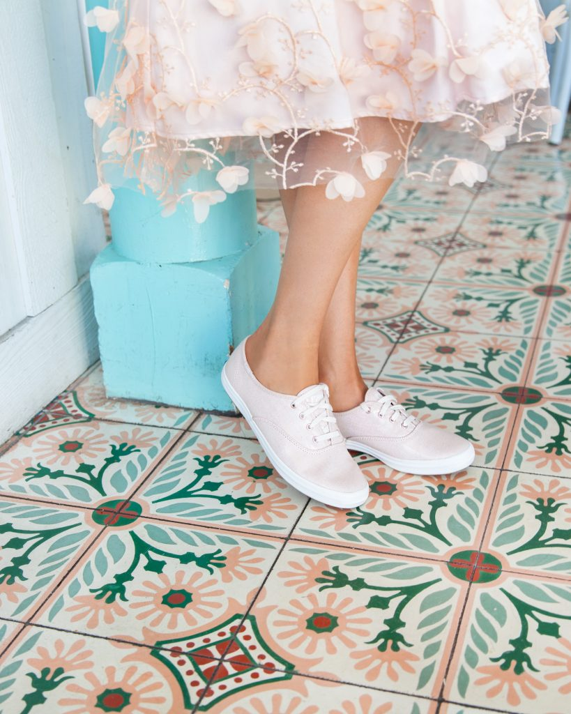 keds champion metallic rose gold| Top San Francisco fashion blog, Lombard & Fifth, featuring a pair of pink metallic Keds