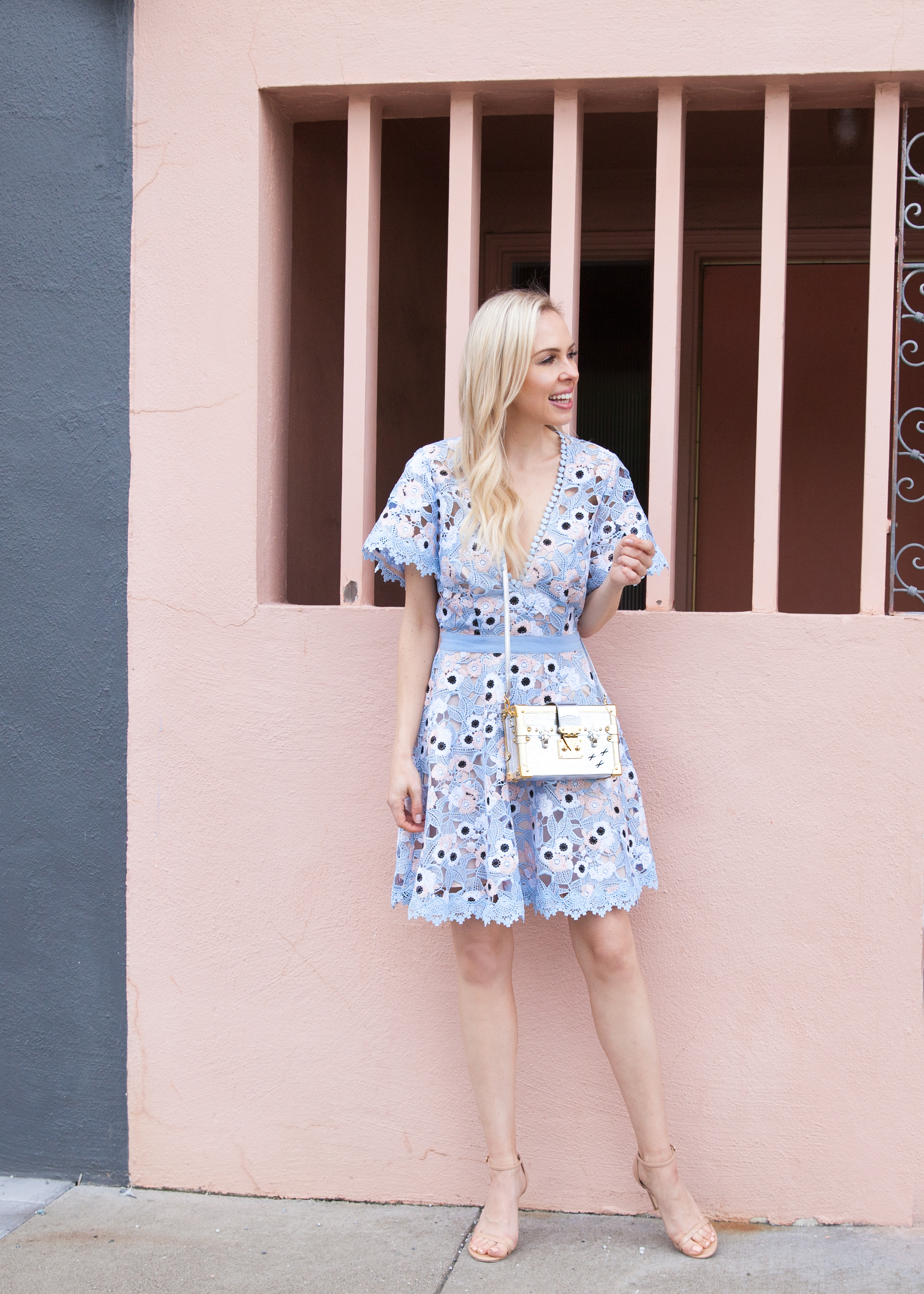 Wedding guest dresses printed pastels lombard and fifth for Pastel dresses for wedding guests