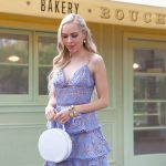 Sau Lee Camellia Lace Tiered Dress. Bouchon bakery in Yountville. Julie Voss cuff bracelet