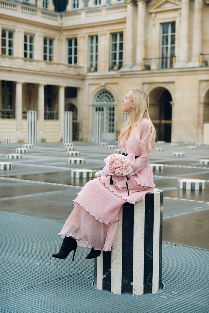 second honeymoon, paris palais royal, alice mccall dress