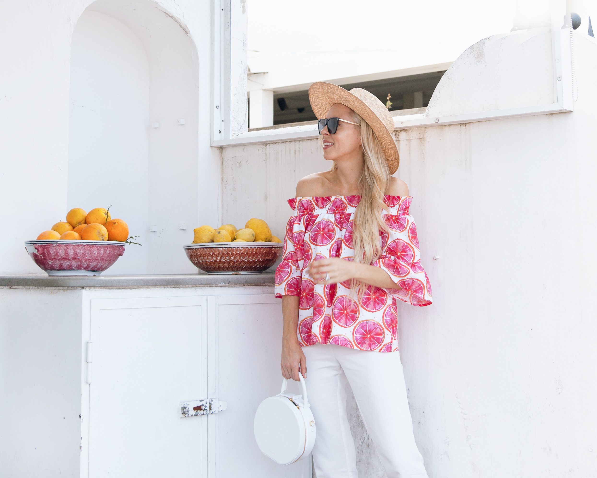 a day in Capri, brooke write design citrus top