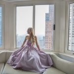 London hotel wearing marchesa notte dress via rent the runway