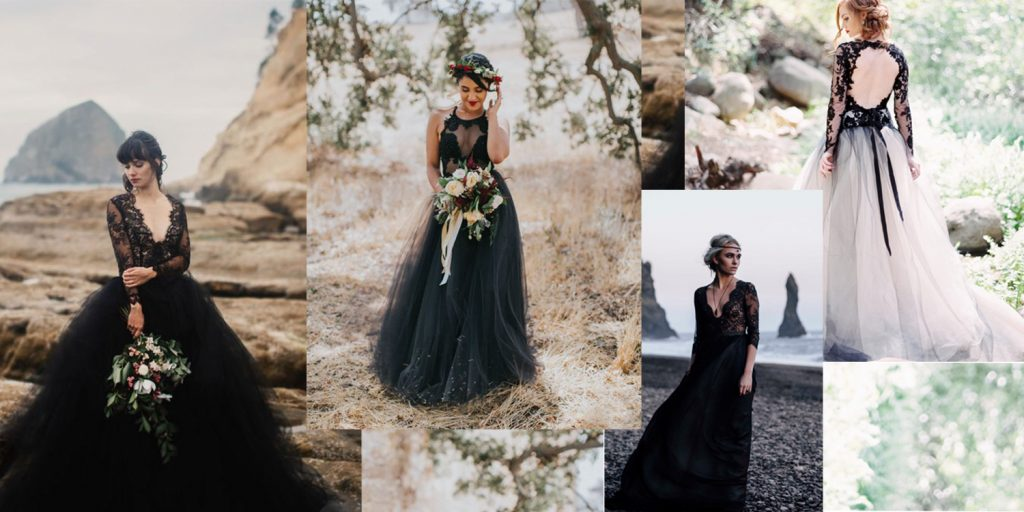 best black wedding dresses
