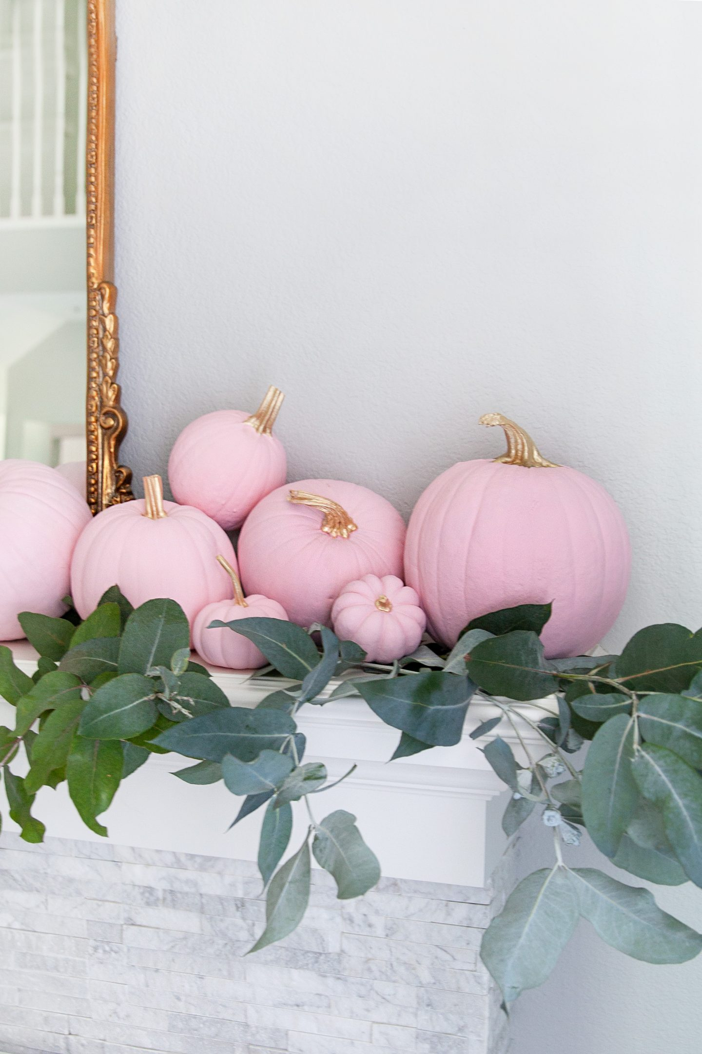 simple pumpkin diy decor tutorial | 5 Step Super Easy Ombre Pink Pumpkin Decor Tutorial featured by top San Francisco lifestyle blog, Lombard & Fifth