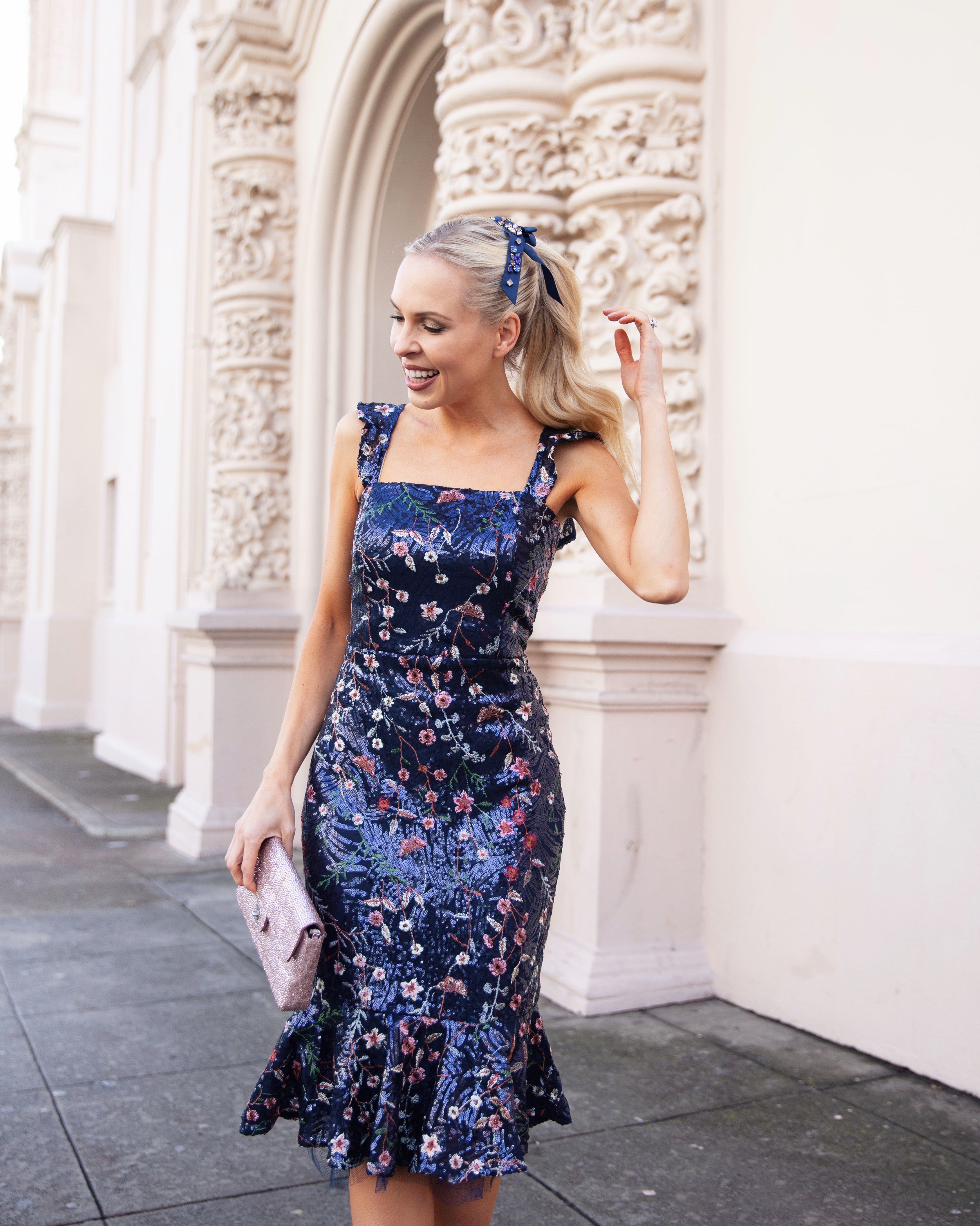 Vici sequin dress featured by top San Francisco fashion blogger Lombard and Fifth