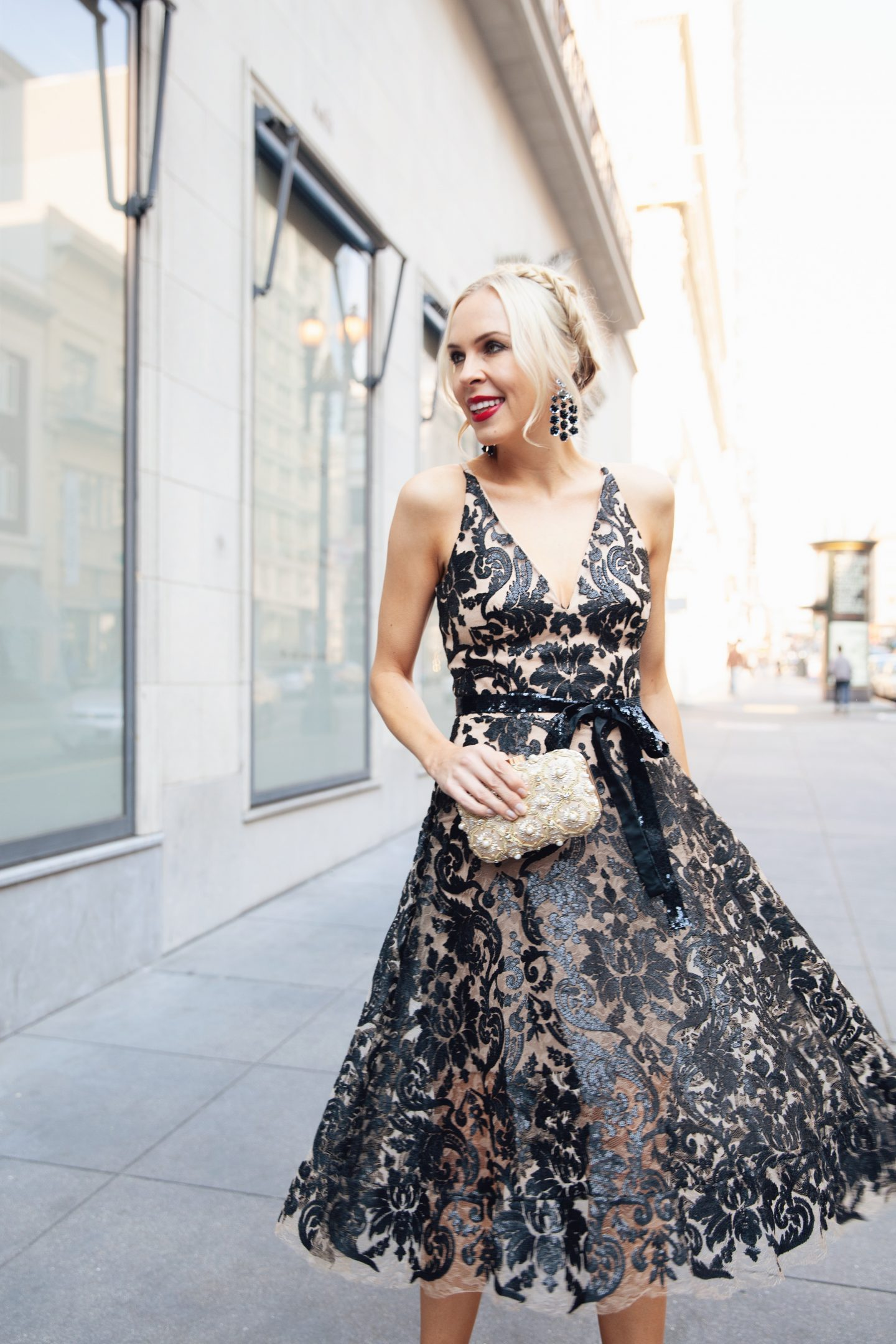 Dress the Population Blair sequin dress styled by top San Francisco fashion blogger Lombard and Fifth