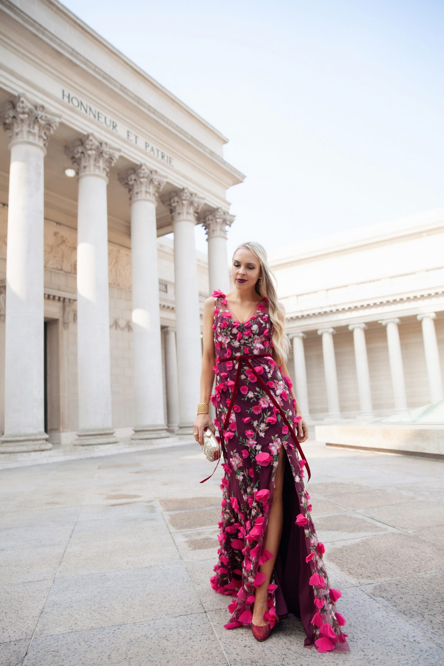 BHLDN holiday dress Vanda Dress Wine by Marchesa Notte styled by top San Francisco fashion blogger Lombard and Fifth