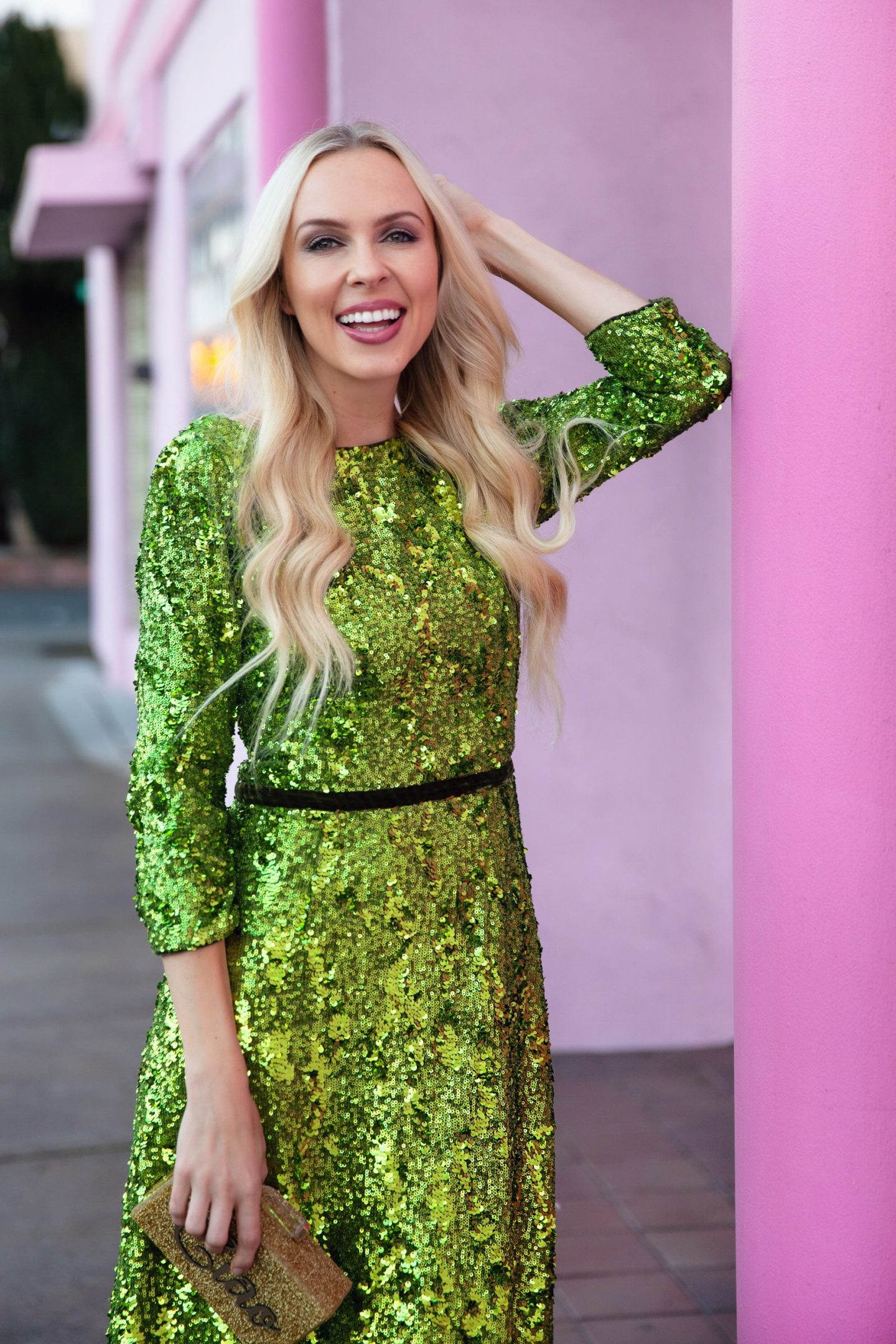Marchesa Notte green embroidered dress featured by top San Francisco fashion blogger Lombard and Fifth