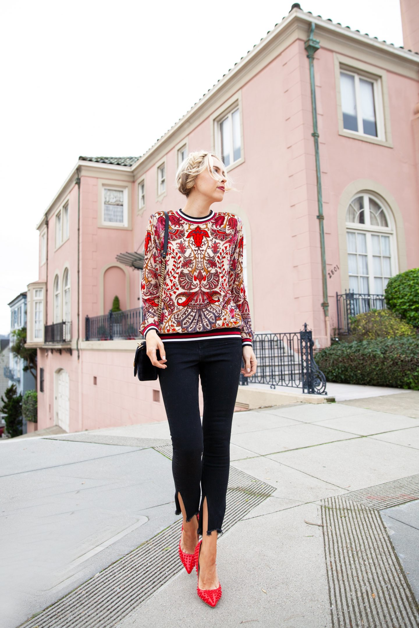 Halebob burnout top featured by top US fashion blogger Lombard and Fifth