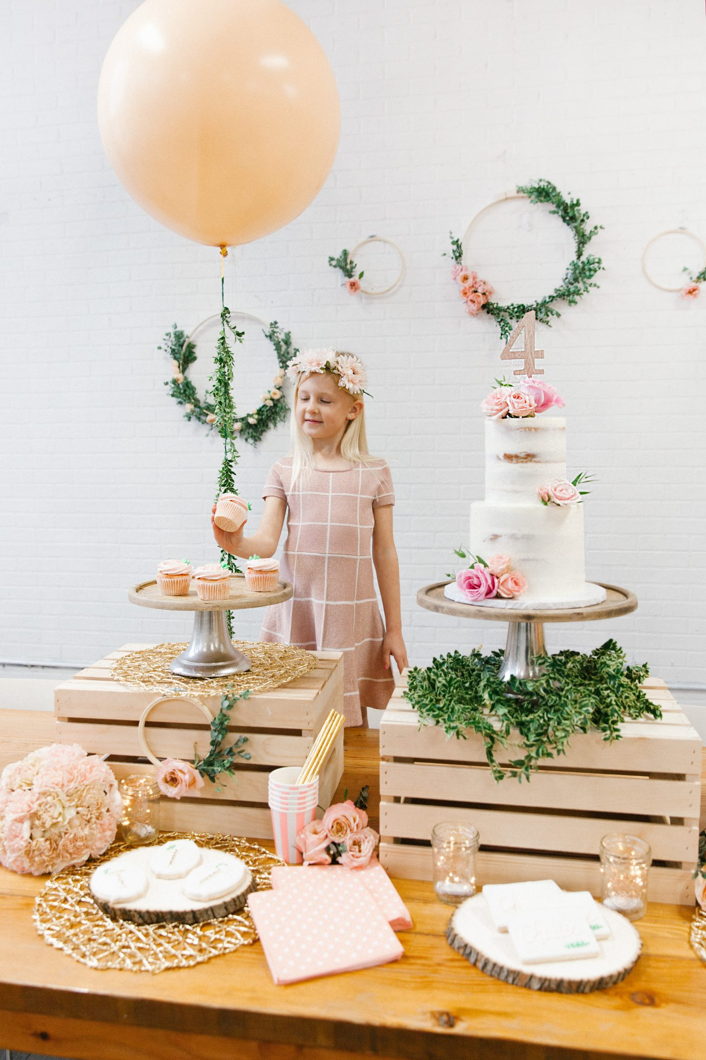 DIY floral birthday party featured by top US lifestyle blog Lombard and Fifth