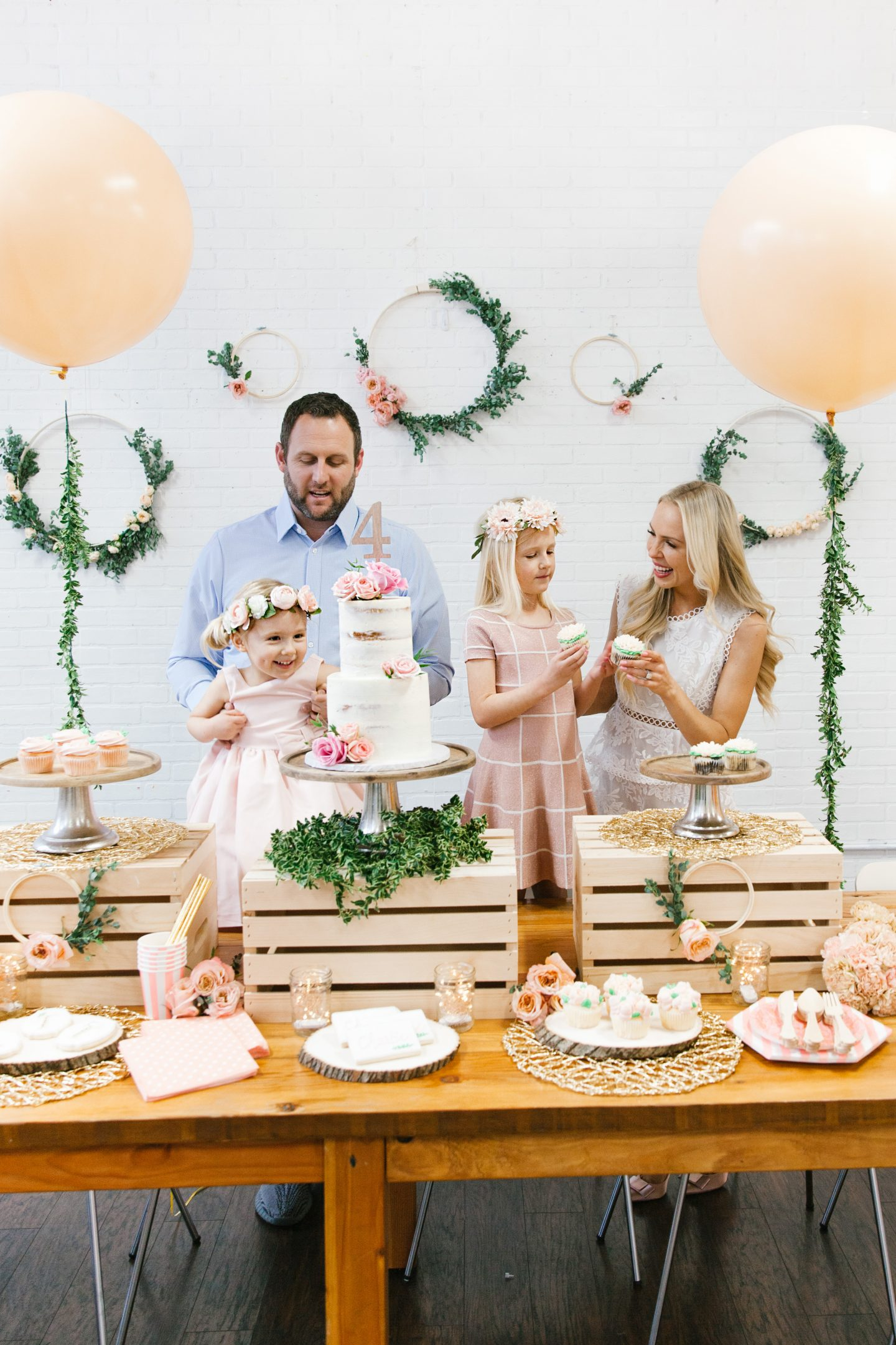 DIY floral girl birthday party featured by top San Francisco fashion blogger Lombard and Fifth