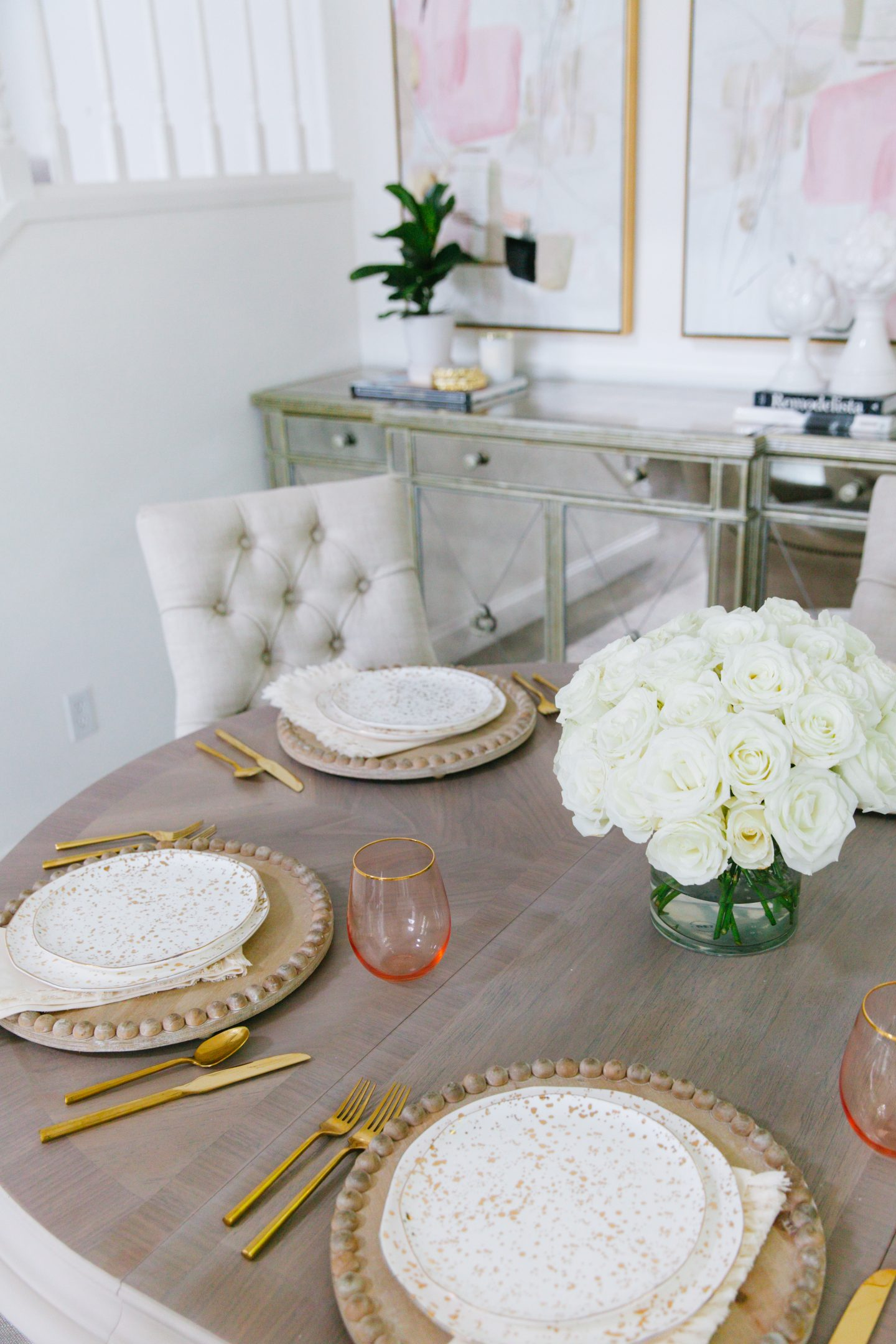 Dining room before and after decor featured by top San Francisco fashion blogger Lombard and Fifth