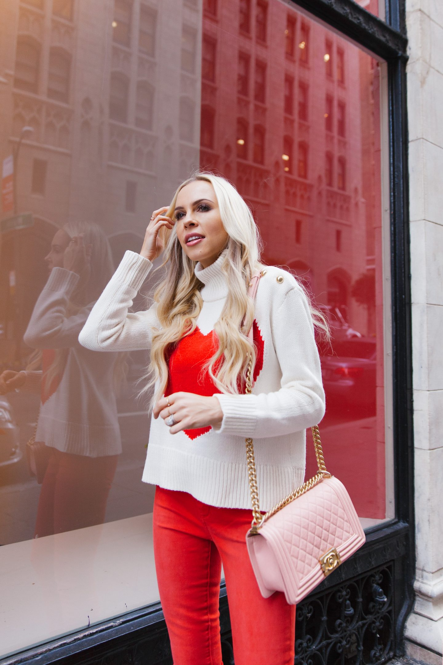 Valentine's Day dress featured by top US fashion blogger Lombard and Fifth