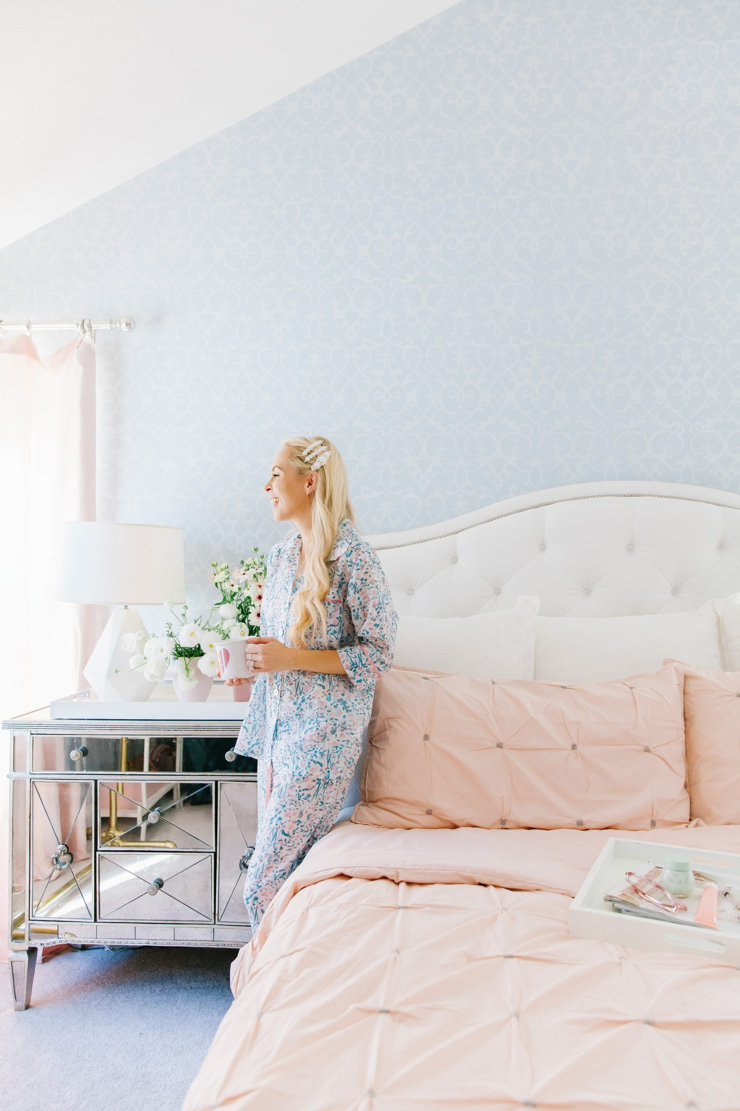 Bring Heart Home With Stage Blush Bedding Featured By Top US Life And Style Blog Lombard Fifth