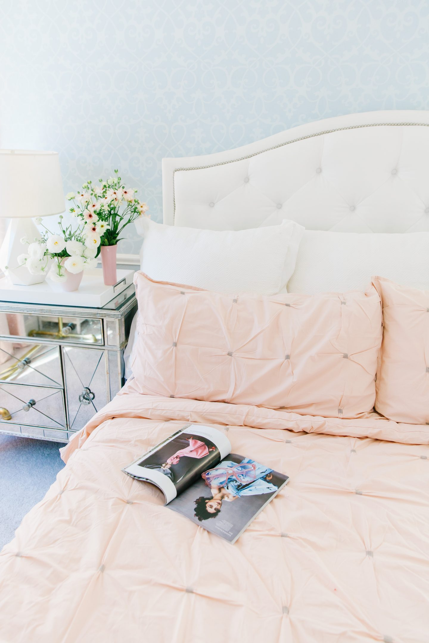 Stage blush bedding featured by top US life and style blog, Lombard and Fifth