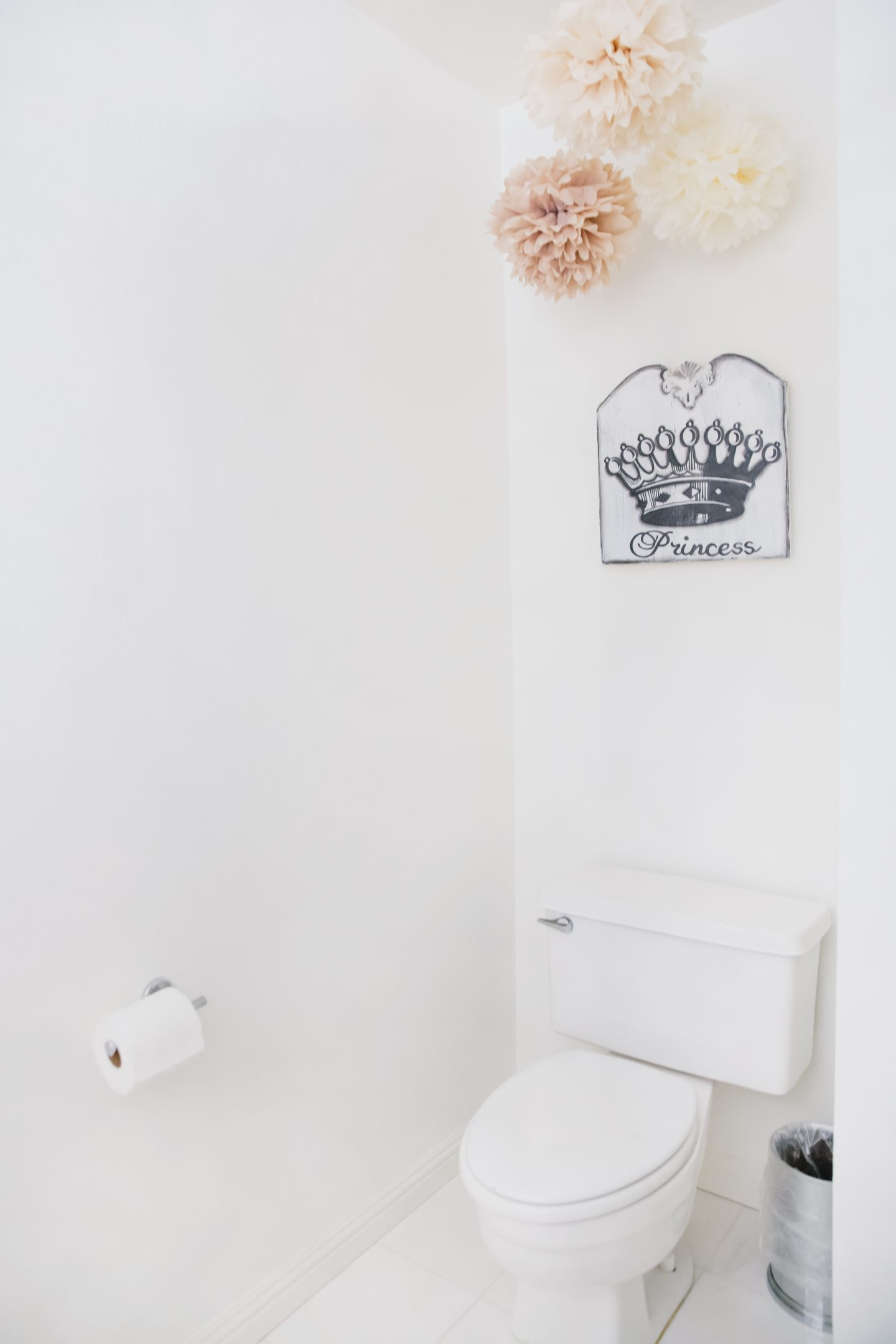Wayfair floral bathroom decor featured by top US life and style blog, Lombard and Fifth: before
