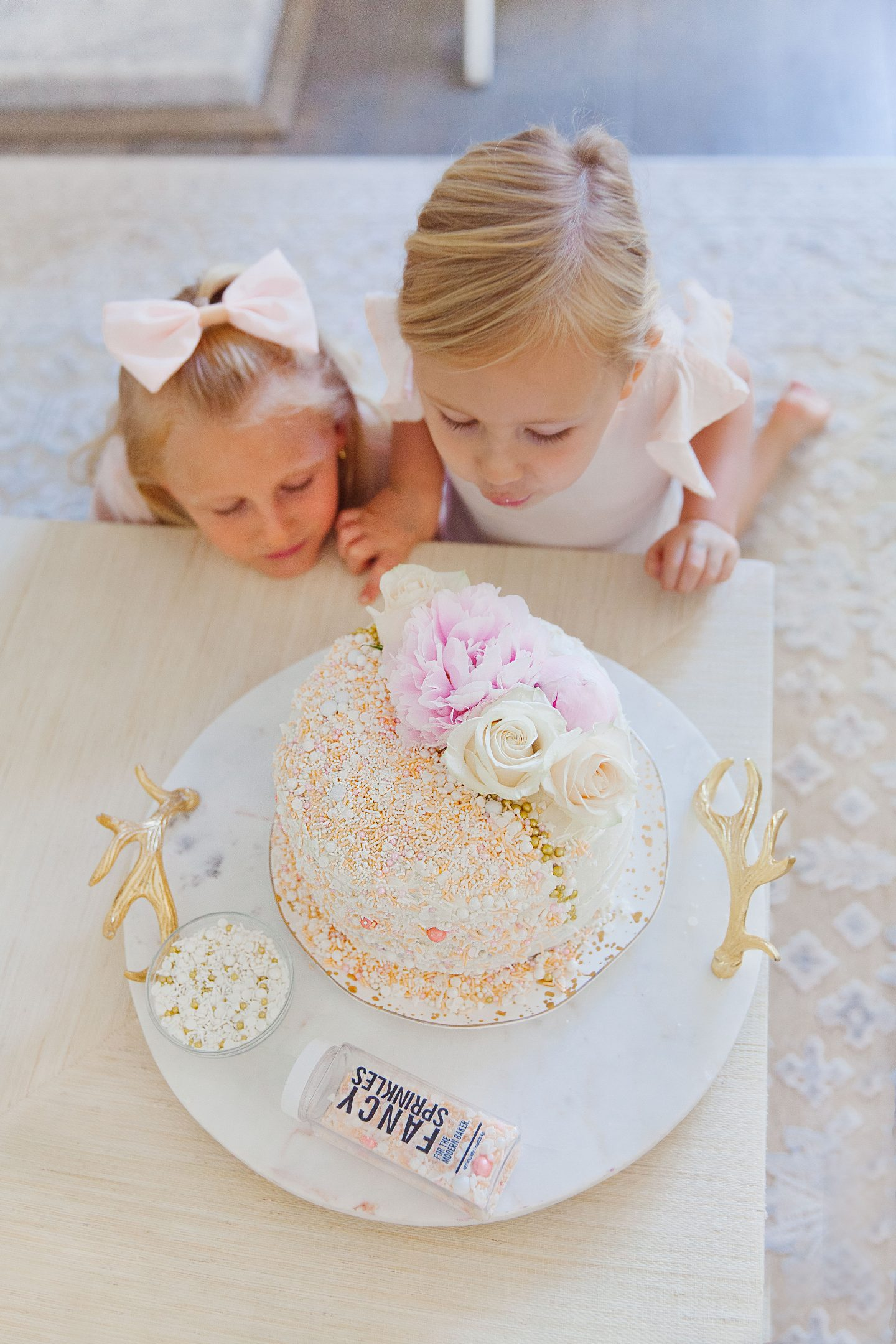 Fancy Sprinkles explosion cake baking featured by top San Francisco fashion blogger Lombard and Fifth