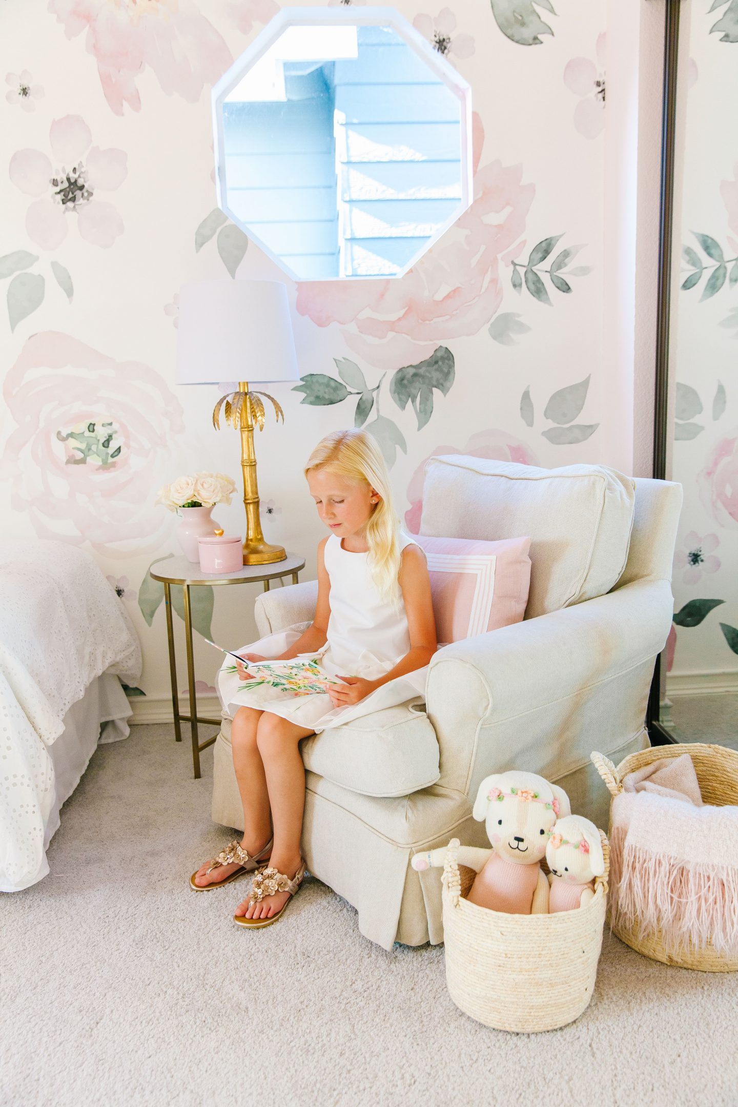 Girl Bedroom décor before and after featured by top San Francisco fashion blogger Lombard and Fifth