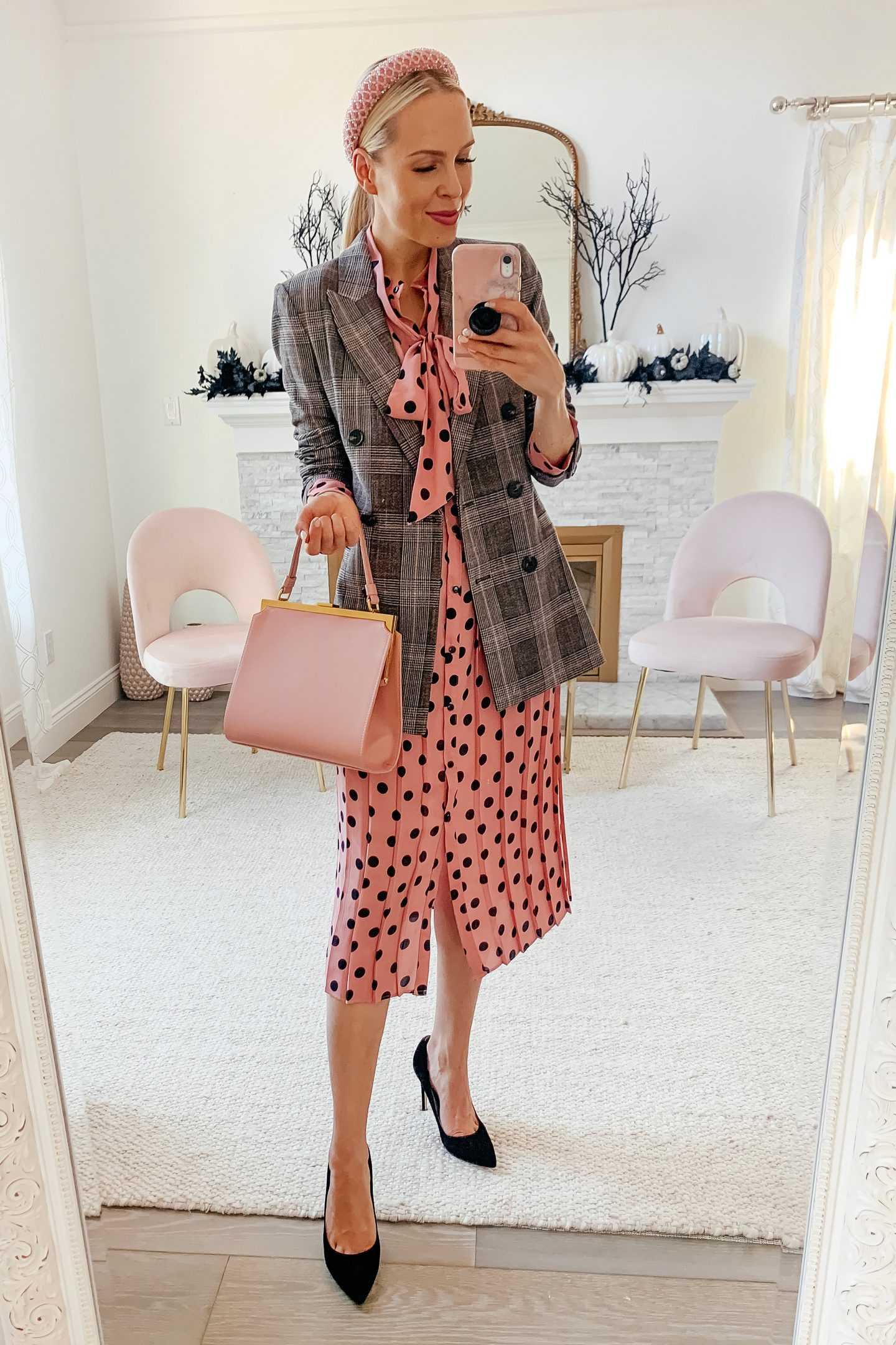 H&M checkered blazer, styled 5 ways featured by top San Francisco fashion blogger Lombard and Fifth