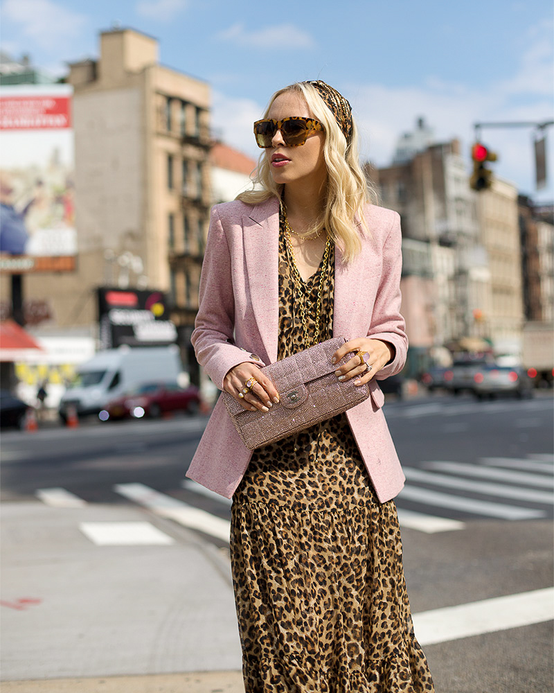 Veronica Beard leopard print dress featured by top San Francisco fashion blogger Lombard and Fifth