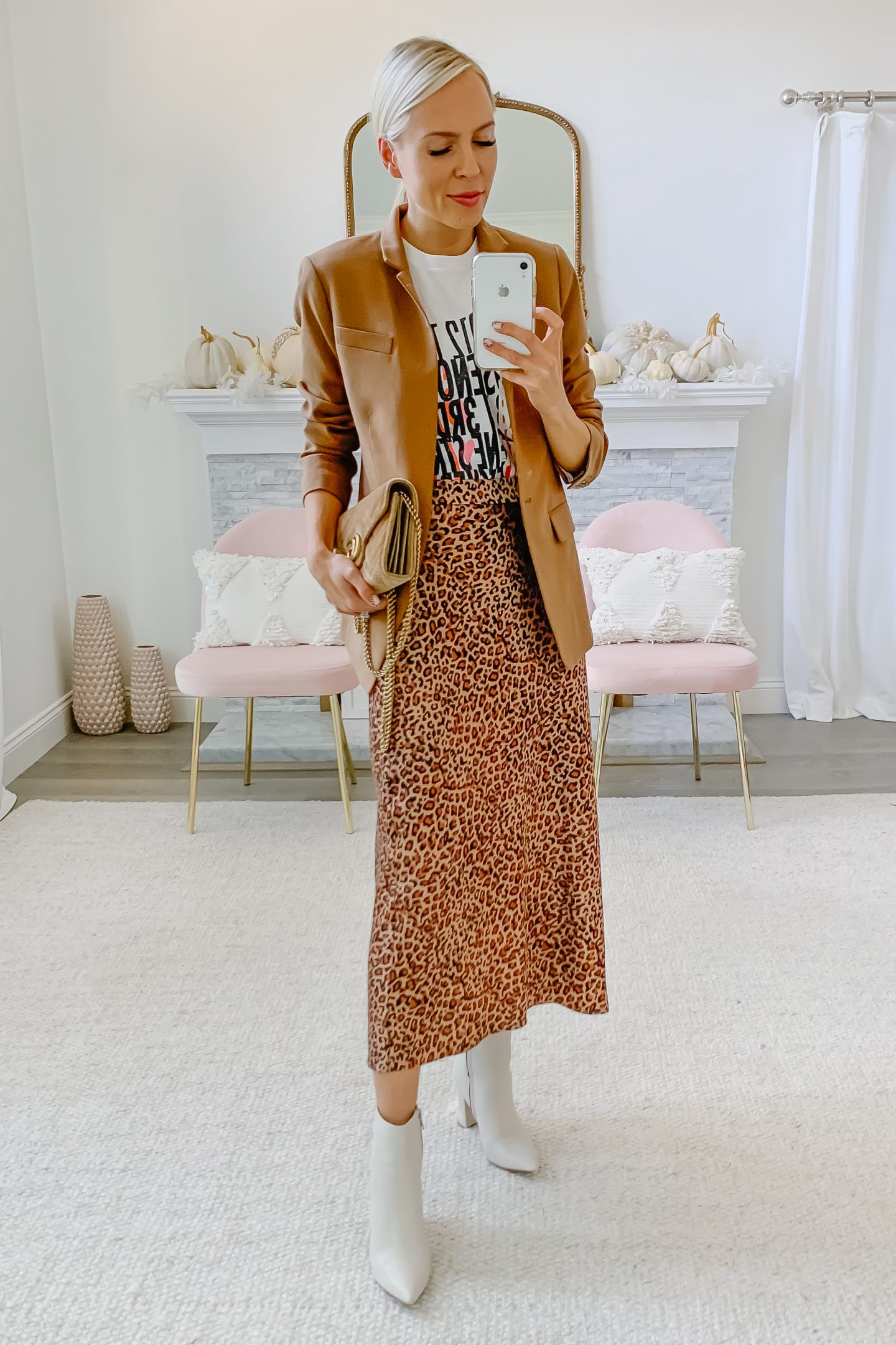 J Crew Camel blazer styled 5 ways, featured by top San Francisco fashion blogger Lombard and Fifth.