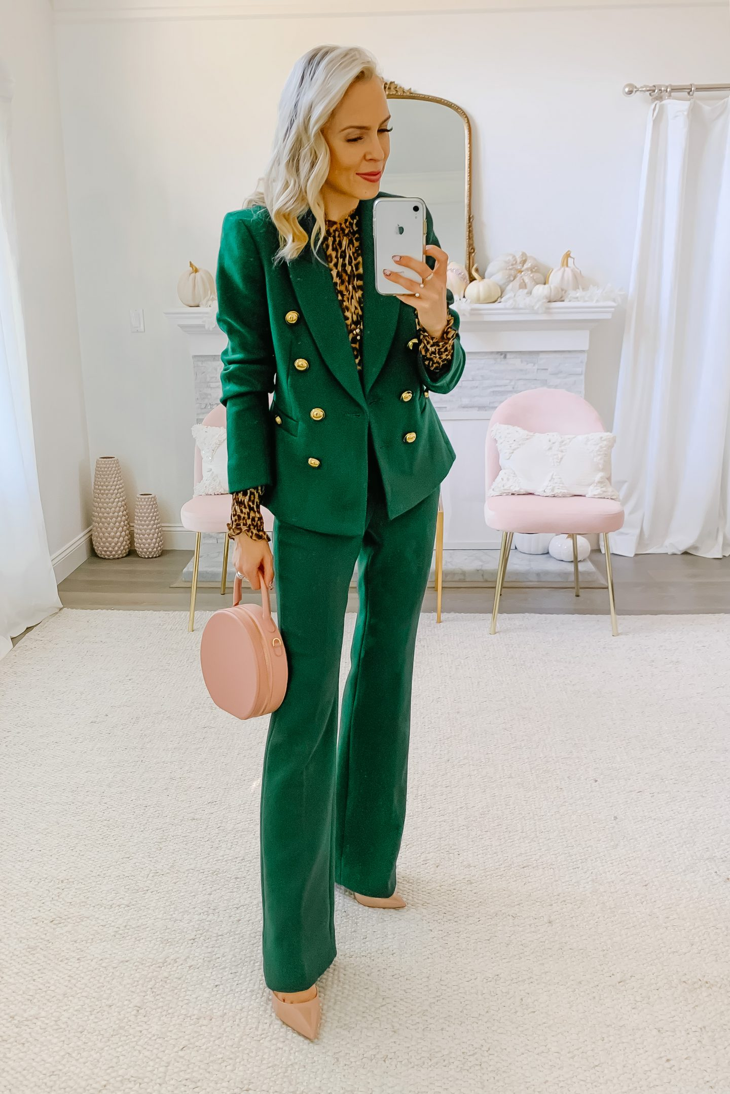 Halogen x Atlantic-Pacific green suit styled by top San Francisco fashion blogger Lombard and Fifth.