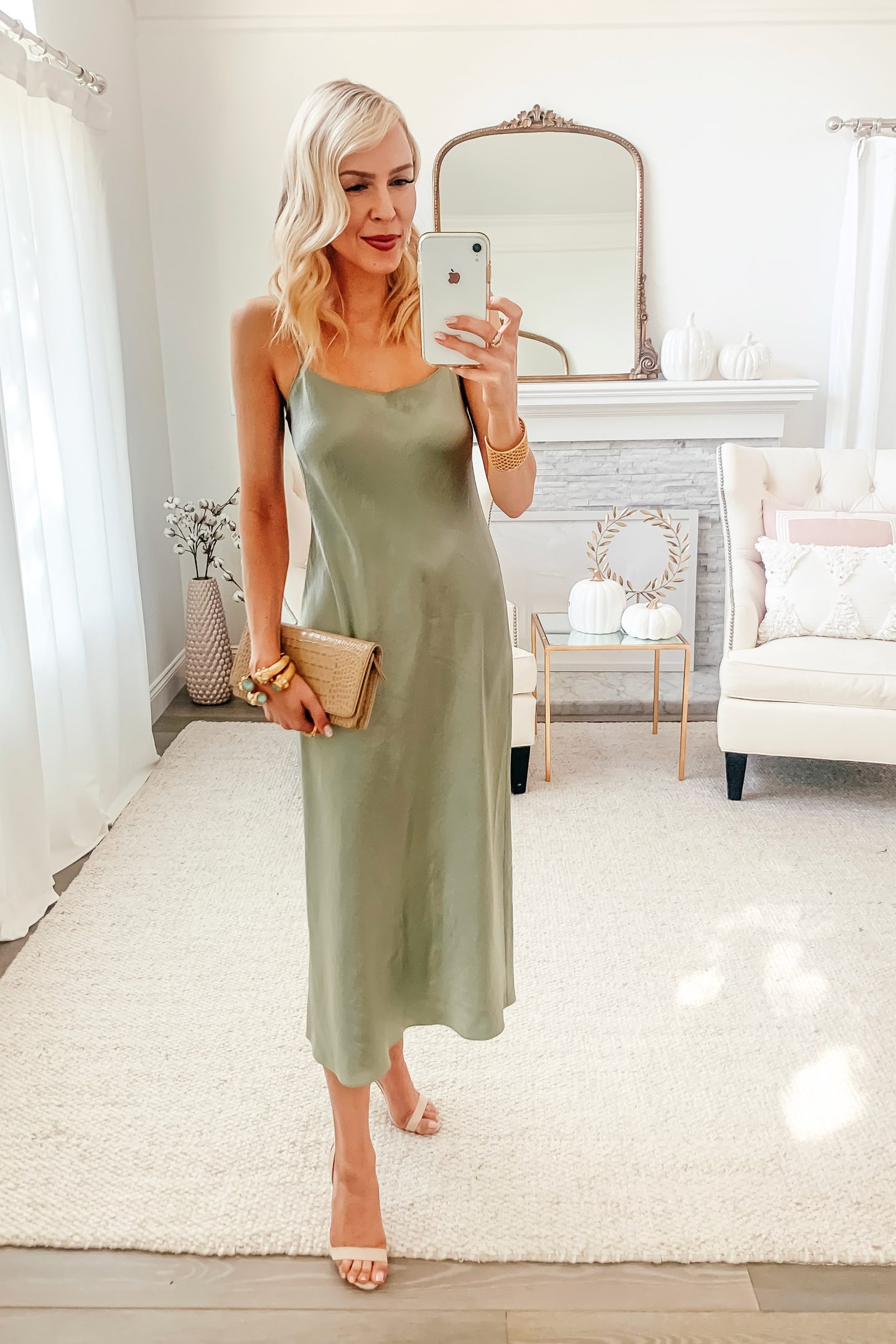 Vince satin slip dress styled 5 ways, featured by top San Francisco fashion blogger Lombard and Fifth.