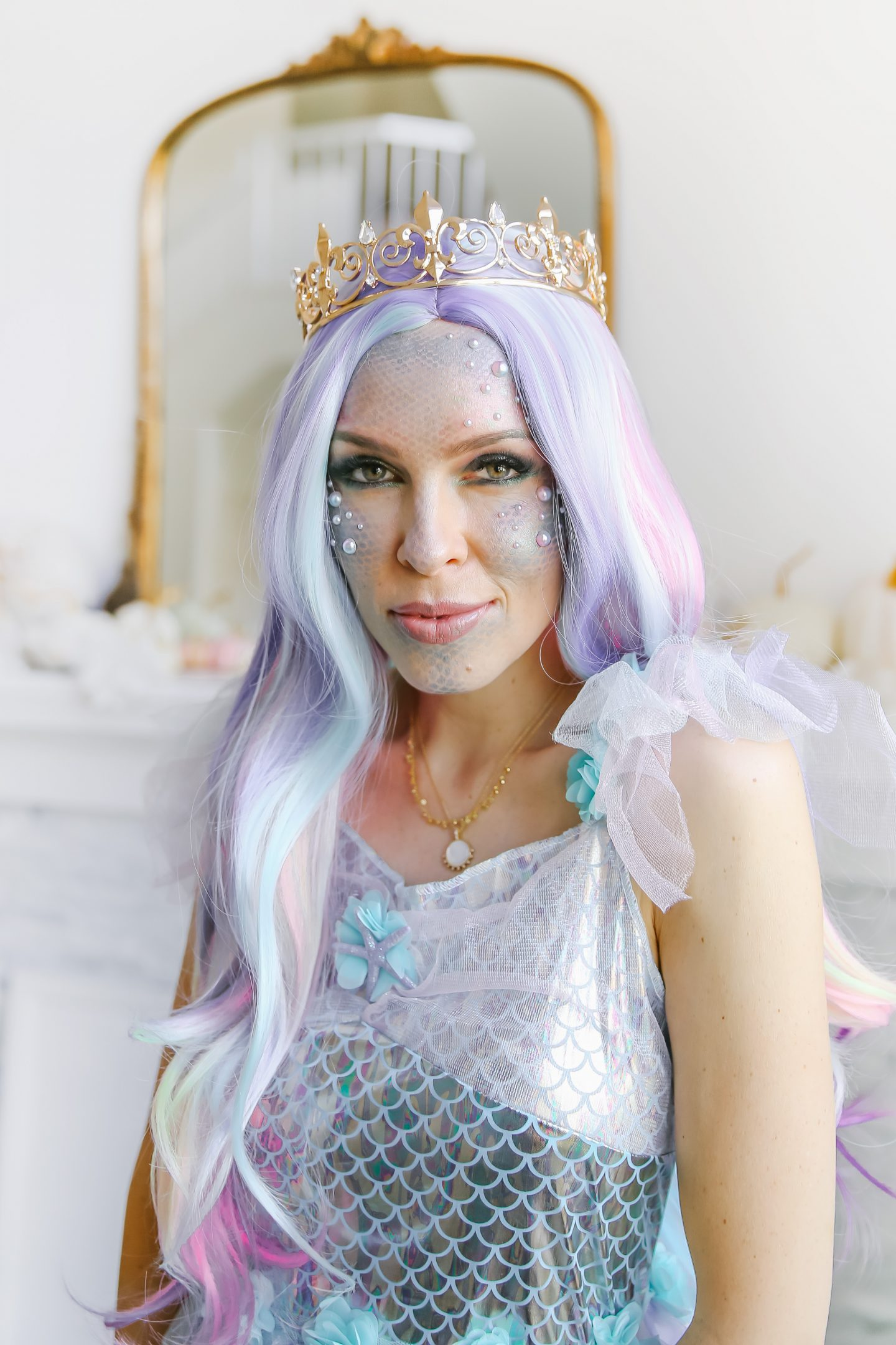 Mermaid family Halloween make-up and costumes ideas styled by top San Francisco fashion blogger Lombard and Fifth.