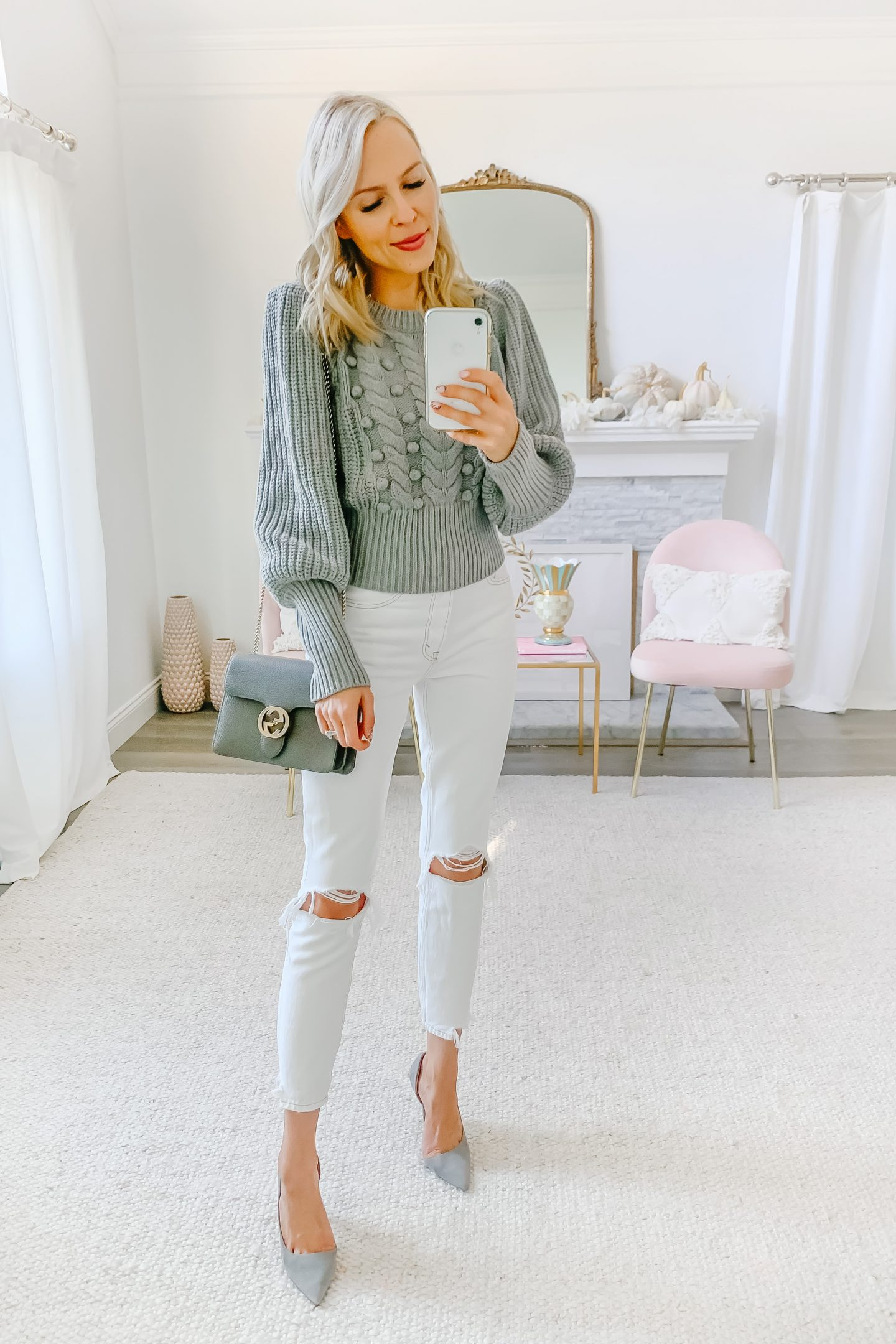 Five ways to style white jeans for fall, by top San Francisco fashion blogger Lombard and Fifth.