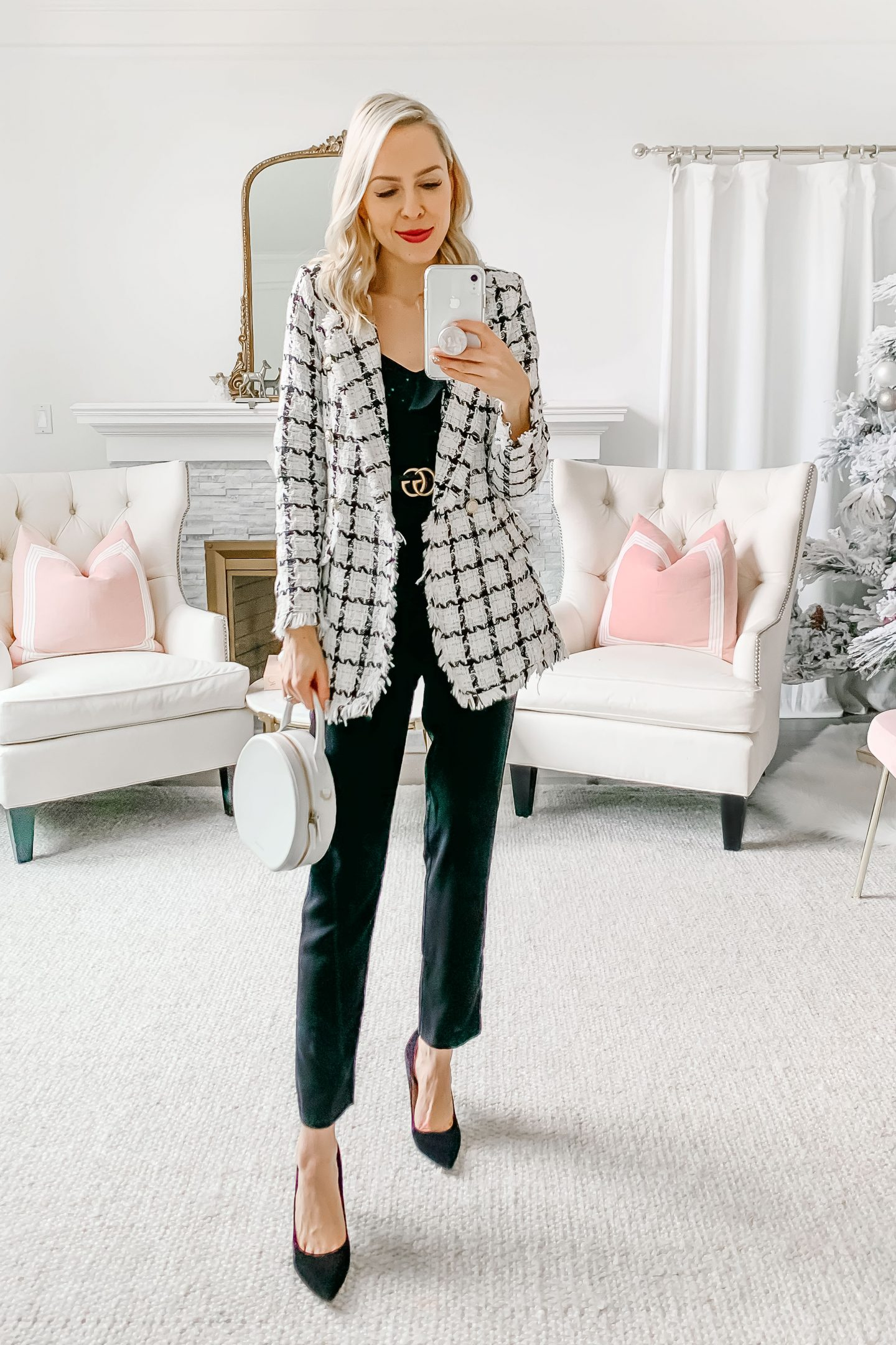 Shein tweed blazer styled five ways featured by top San Francisco fashion blogger Lombard and Fifth.