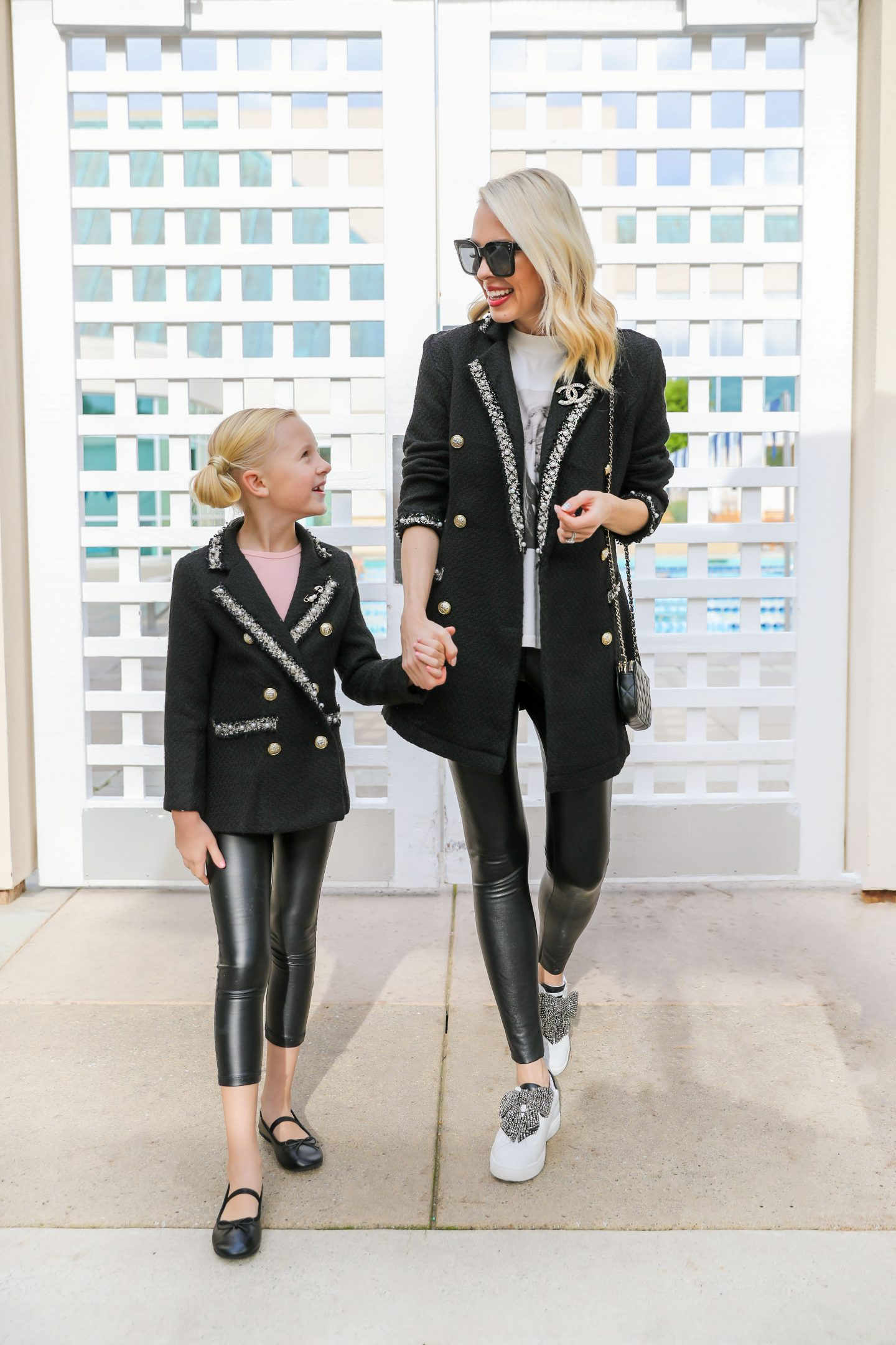 Shein tweed blazer affordable mommy and me style featured by top San Francisco fashion blogger Lombard and Fifth.