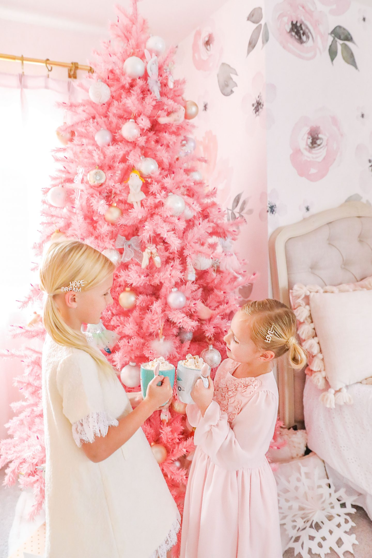 Treetopia Pink Christmas tree decor featured by top San Francisco fashion blogger Lombard and Fifth.