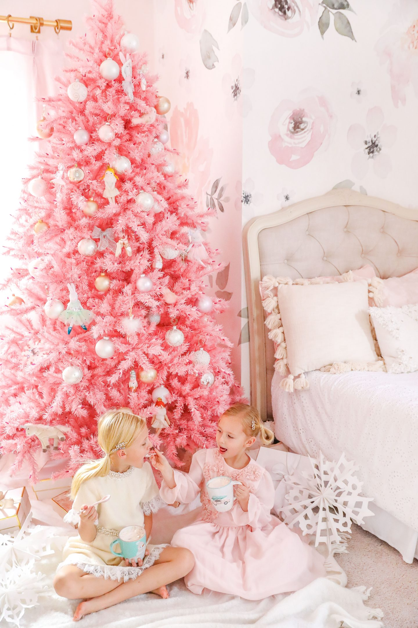 Treetopia Pink Christmas decor featured by top San Francisco fashion blogger Lombard and Fifth.