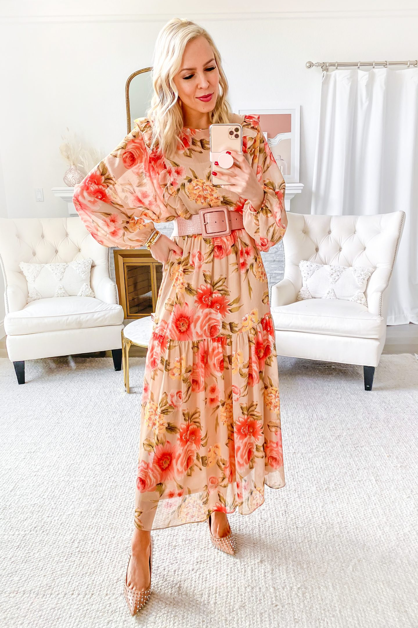 H&M floral maxi dress styled 5 ways, featured by top San Francisco fashion blogger Lombard and Fifth.