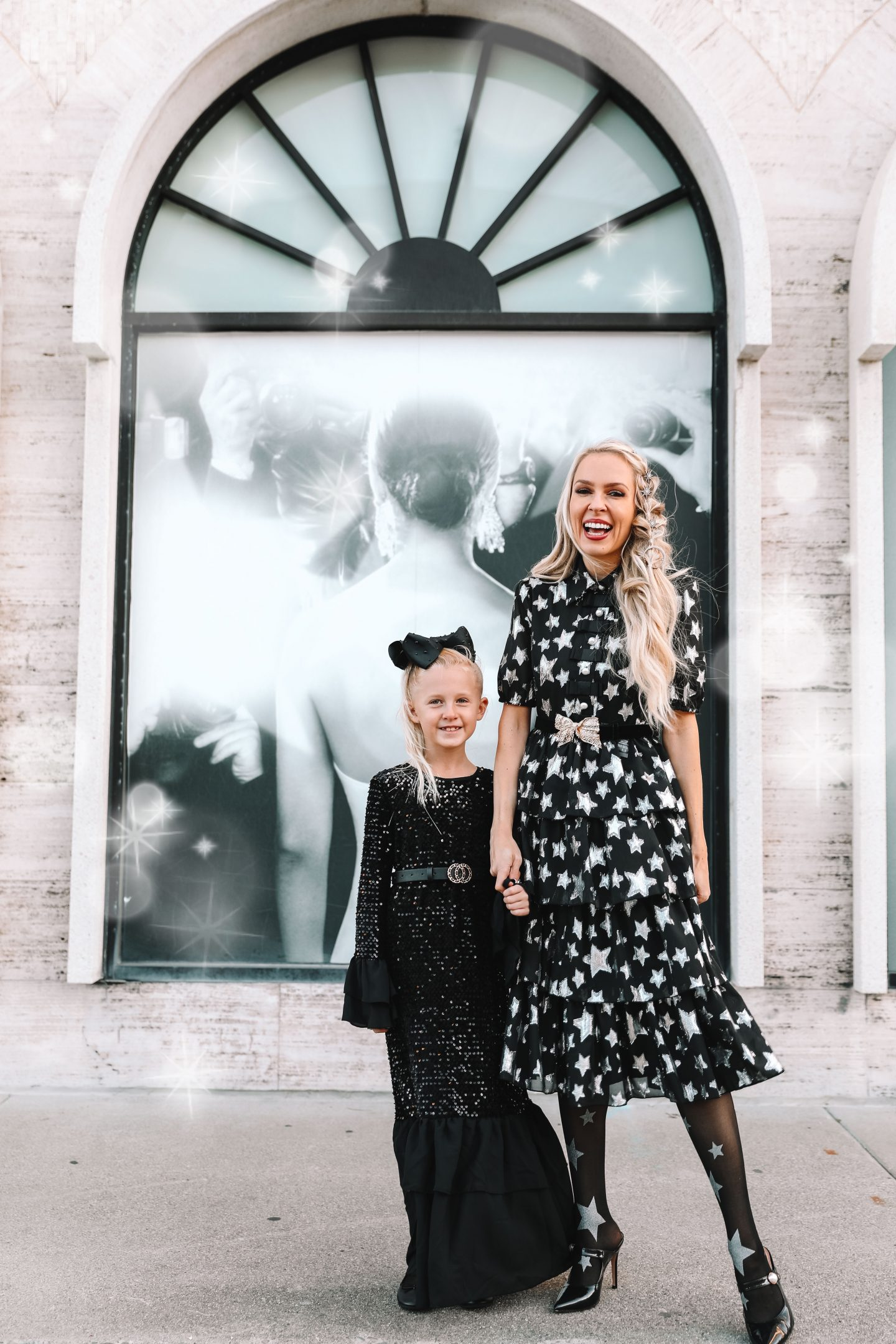 Halogen metallic star chiffon dress new year's eve style, featured by top San Francisco fashion blogger Lombard and Fifth.
