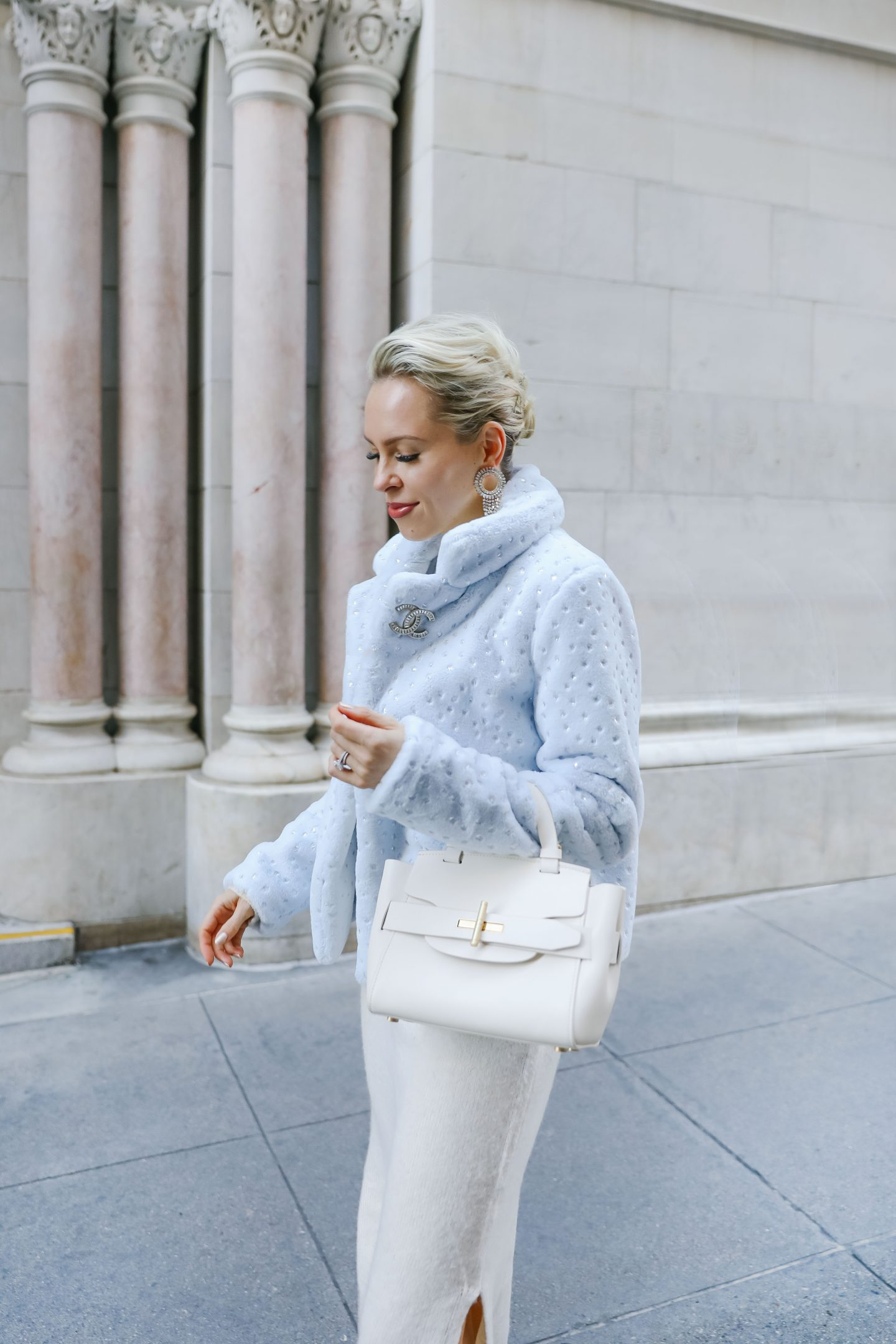 Superdown Revolve faux fur jacket styled two ways featured by top San Francisco fashion blogger Lombard and Fifth