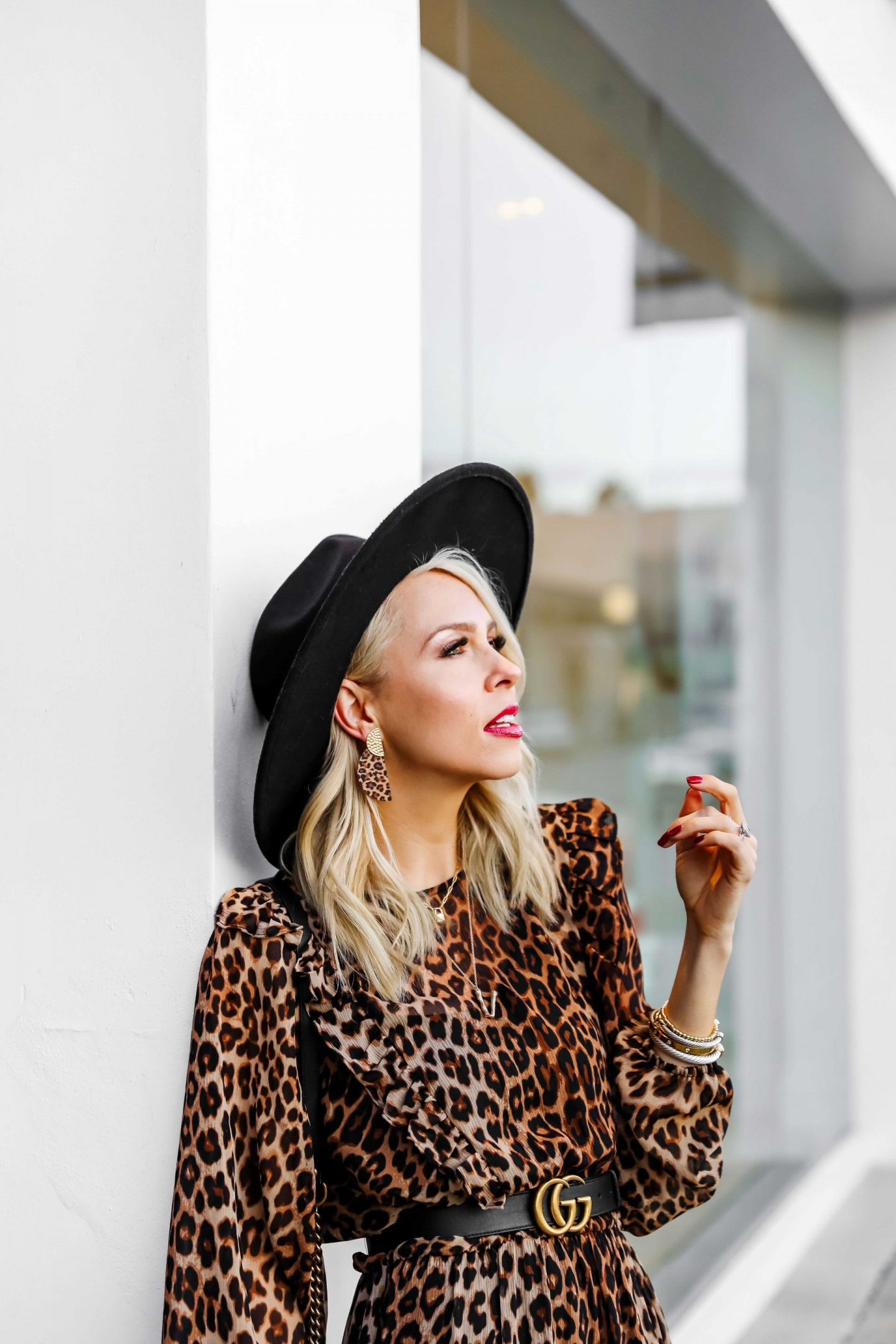 H&M leopard print maxi dress and best leopard finds under $100, featured by top San Francisco fashion blogger Lombard and Fifth.